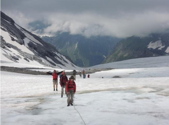 Sommerfahrt 2016 - Gletscher besteigung