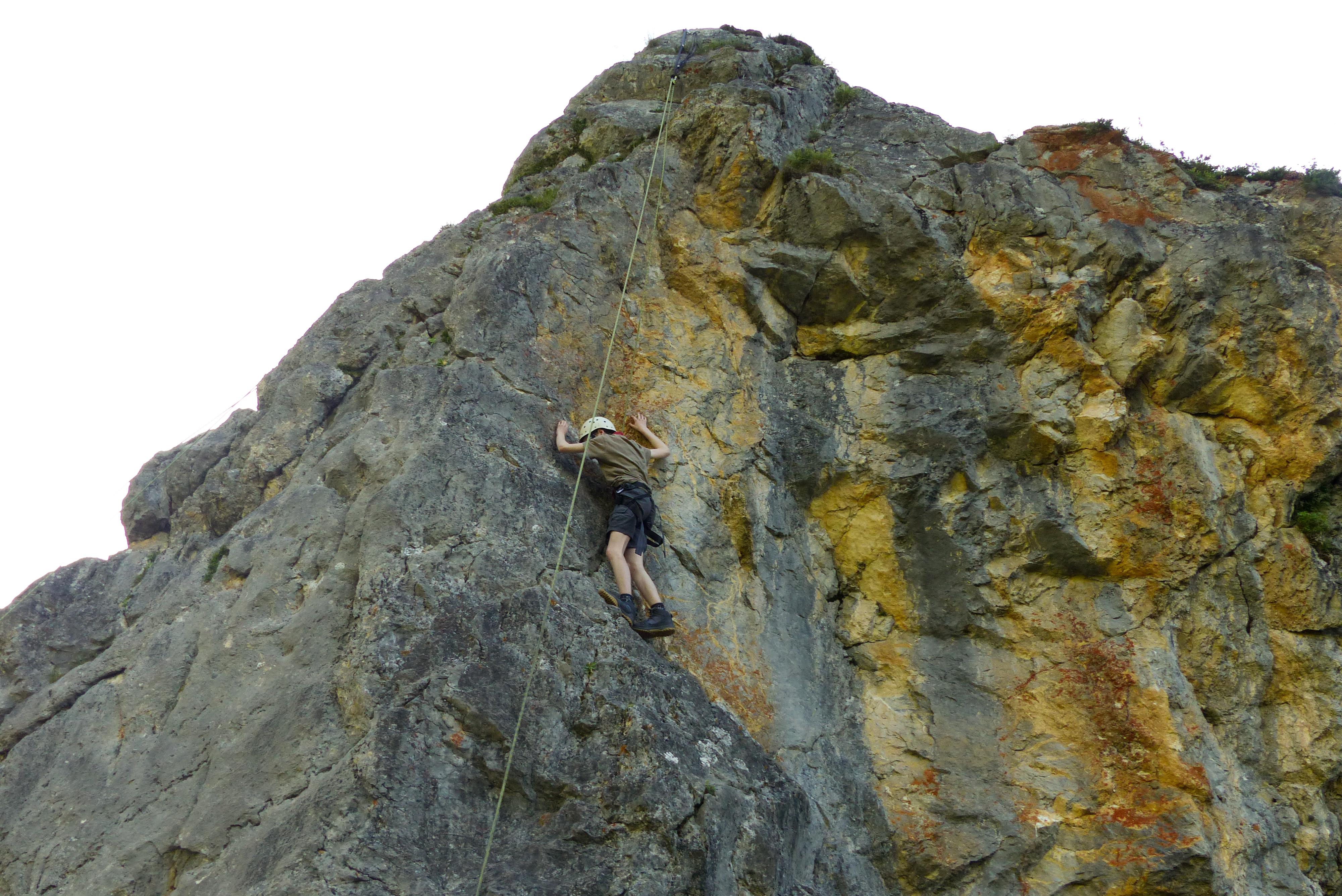 Kleine Kletteraktion