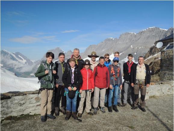 Sommerfahrt 2016 - Gruppenfoto Mutterhornhütte