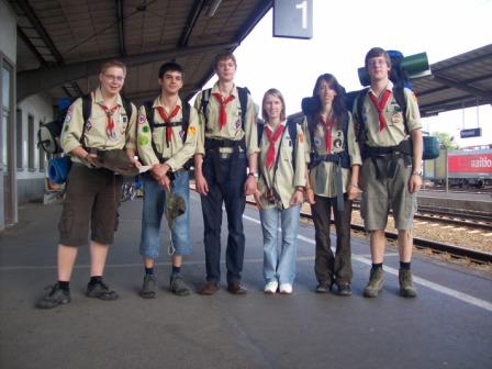 Gruppenbild am Neuwieder Bahnhof